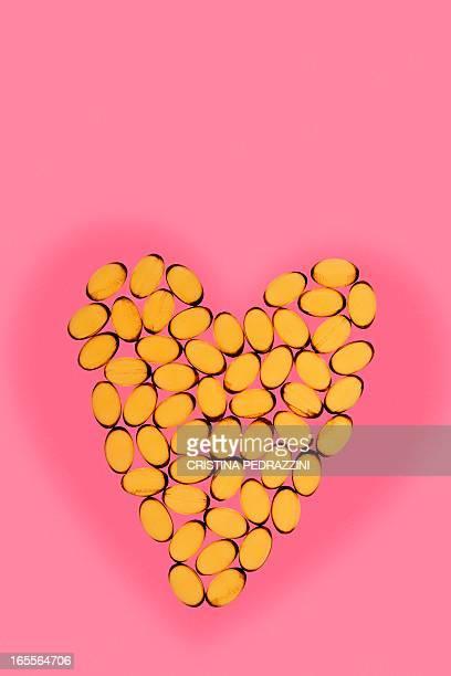 Heart supplements, conceptual image