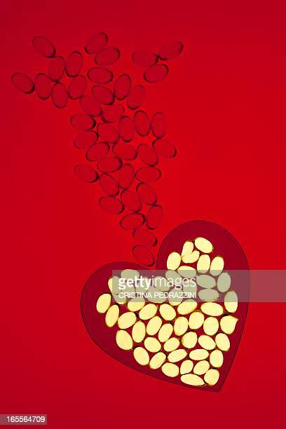 Heart supplements, conceptual image