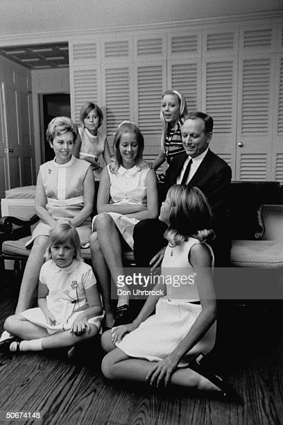 Heart surgeon Dr Denton A Cooley and his family