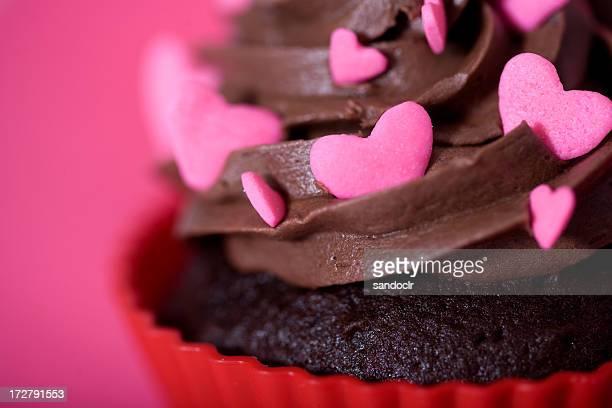 Heart themed cupcake