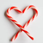 Heart with candy canes