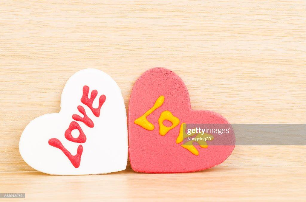 Coração com amor : Foto de stock