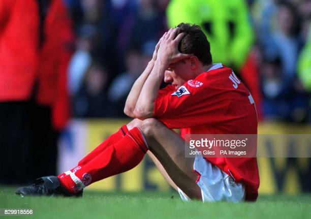 Heartbreak for Juninho of Middlesbrough at the end of their last match of the season today after they were held to a draw at Leeds making them one of...