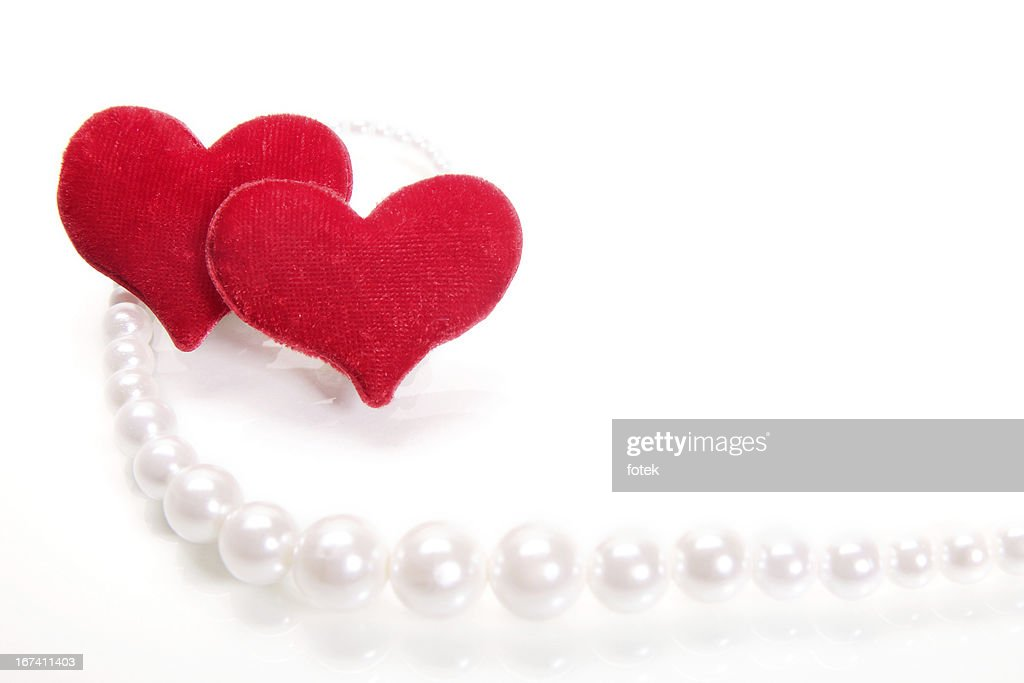 Hearts and perls : Stock Photo