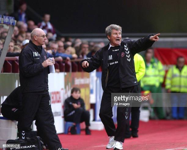 Heart's Coach Eduard Malofeev during the Bank of Scotland Premier League match against Dunfermline at Tynecastle Stadium Edinburgh