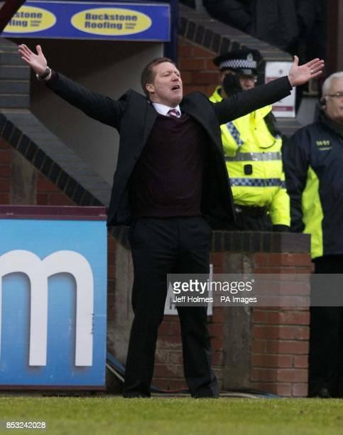 Hearts manager Gary Locke during the Scottish Premiership match at Tynecastle Stadium Edinburgh