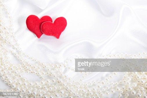 Coeur sur fond de perles : Photo
