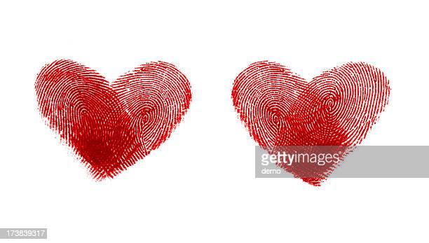 Herz-Form-Fingerabdrücke # 1