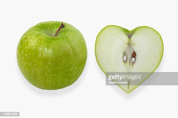 Heart-shaped apples