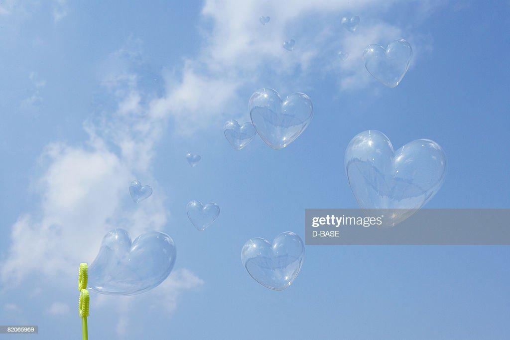 heart-shaped bubbles : Stock Photo