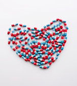 Heart-shaped capsules