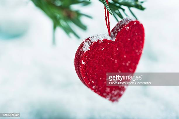 Heart-shaped Christmas ornament
