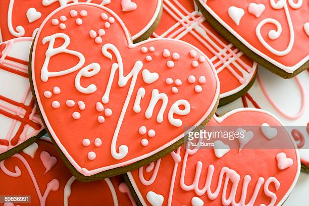 Heart-Shaped Cookie With Red Frosting