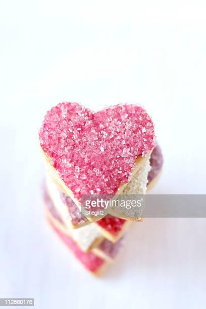Coração em forma de cookies