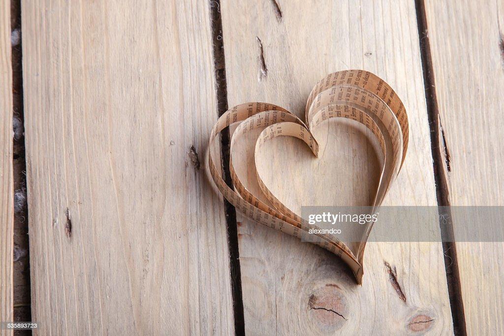 Heart-shaped cutout St Valentines hearts : Stockfoto