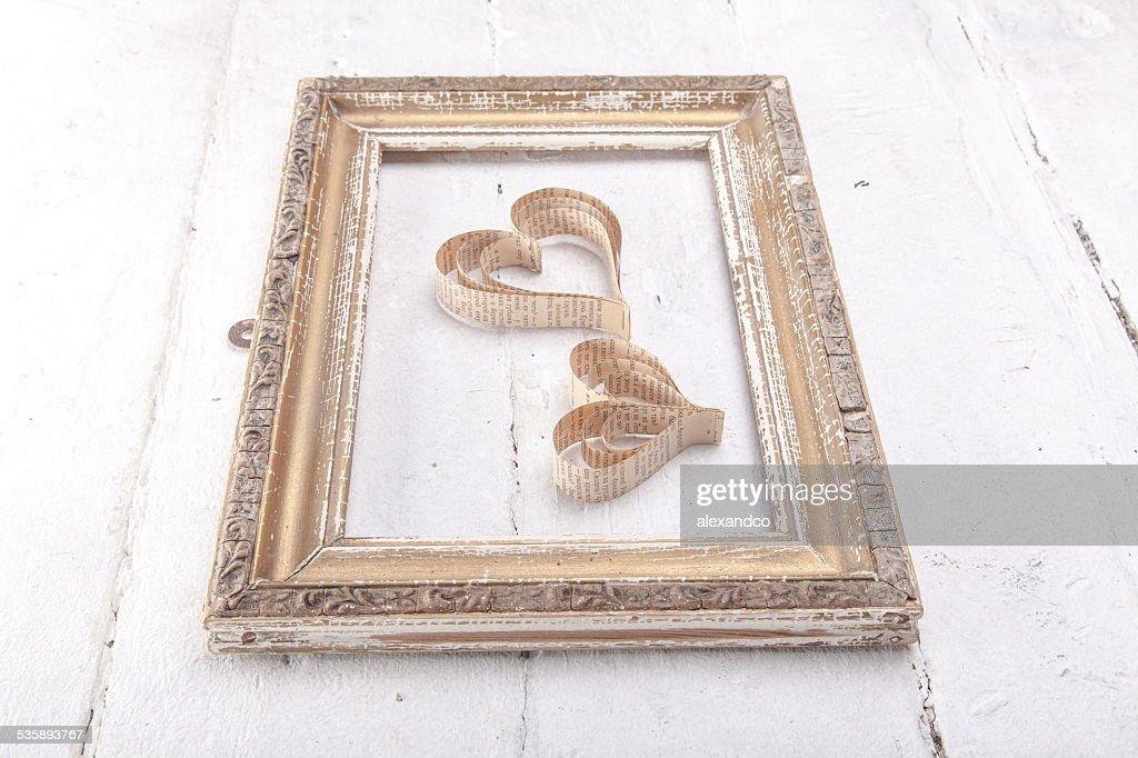 Sagoma a forma di cuore San Valentino cuori : Foto stock