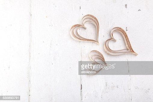 ハート型カットアウトの St バレンタインデーのハート : ストックフォト