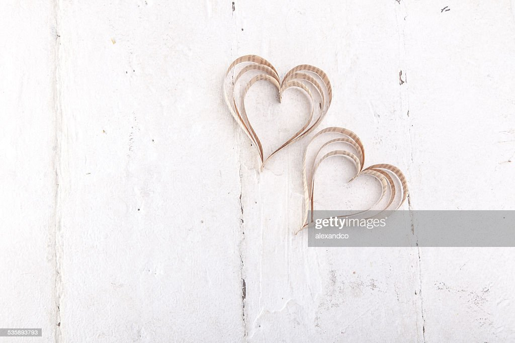 Heart-shaped cutout St Valentines hearts : Stockfoto