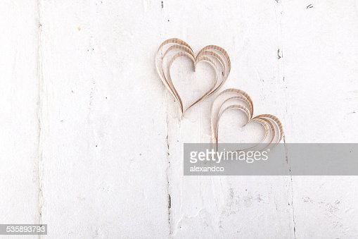 Heart-shaped cutout St Valentines hearts : Stock Photo