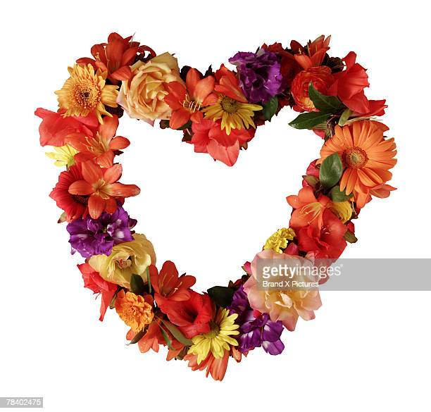 Heart-shaped floral wreath