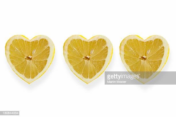 Heart-shaped lemons