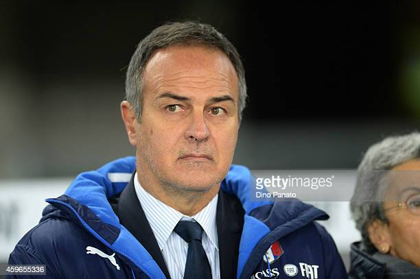 Heas coach of Italy Antonio Cabrini looks on during the FIFA Women's World Cup Qualifier match between Italy and Netherlands at Stadio Marc'Antonio...