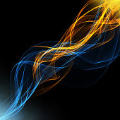 abstract background with hot and cold smoke