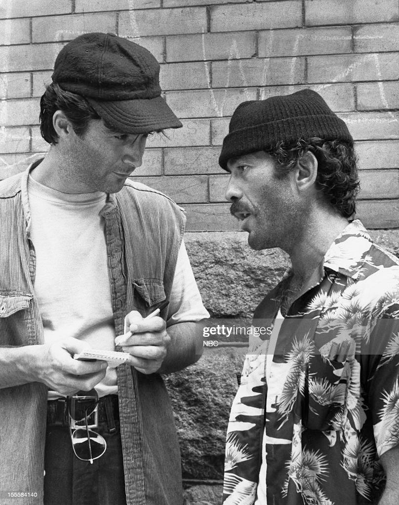 BLUES 'Heat Rash' Episode 303 Pictured Leo Rossi as Jon Gennaro Bruce Weitz as Det Mick Belker