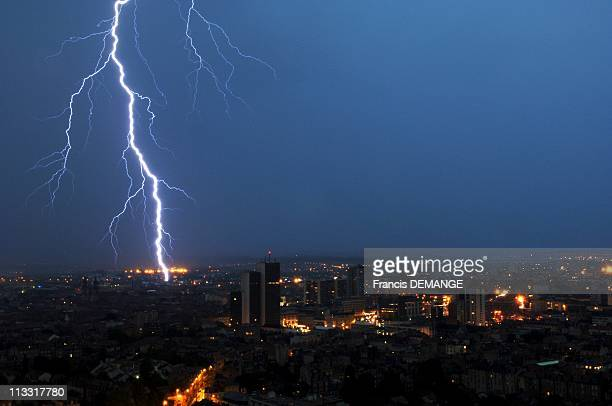 Heat Wave And Storms In France On June 24Th 2005 In Nancy France Here The Heat Wave Of The Last Days Causes Impressive Storms On All France The...