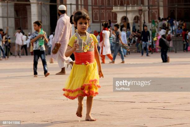 Heat wave in Delhi India on 11 may 2017 Amid sweltering heat with temperature jumping to 40plus barefooted sixyearold little star is on her way with...