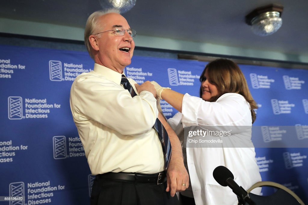 HHS Secretary Tom Price Holds News Conference On Influenza Prevention