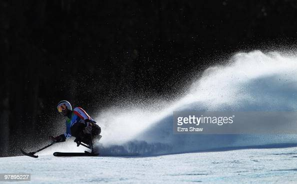 Heath Calhoun of USA competes in the Men's Sitting SuperG during Day 8 of the 2010 Vancouver Winter Paralympics at Whistler Creekside on March 19...