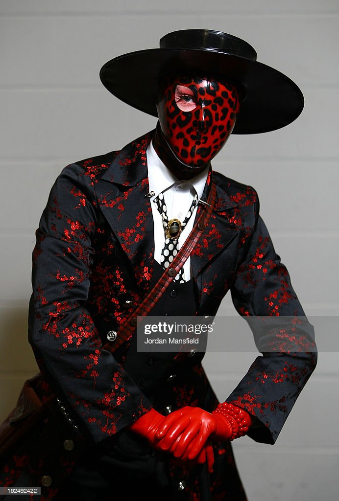 Heath Clark from Nottinghamshire dressed as his alter-ego 'Dead Rotten' poses for a photo at the London Super Comic Convention at the ExCeL Centre on February 23, 2013 in London, England. Enthusiasts at the Comic Convention are encouraged to wear a costume of their favourite comic character and flock to the ExCeL to gather all the latest news in the world of comics, manga, anime, film, cosplay, games and cult fiction.