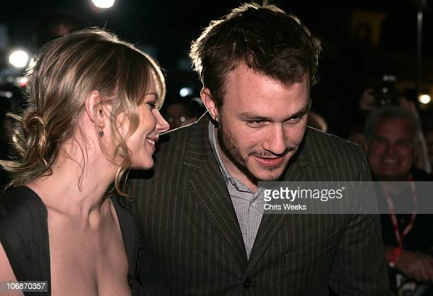Heath Ledger and Michelle Williams during 21st Annual Santa Barbara International Film Festival The Breakthrough Performance of the Year Award...