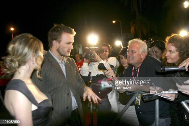 Heath Ledger and Michelle Williams during 21st Annual Santa Barbara International Film Festival Imperia Breakthrough Performance of the Year Award...