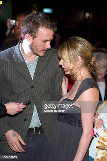 Heath Ledger and Michelle Williams during 21st Annual Santa Barbara International Film Festival Imperia Breakthrough Performance of the Year Award...