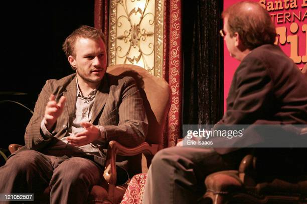 Heath Ledger and Peter Hammond during 21st Annual Santa Barbara International Film Festival Imperia Breakthrough Performance of the Year Award Heath...