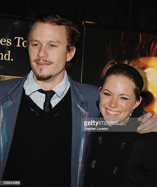 Heath Ledger and Sienna Miller during Touchstone Pictures' 'Casanova' New York City Premiere Inside Arrivals at Loews Lincoln Square Cinemas in New...