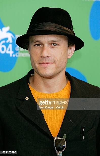 Heath Ledger at the 'I'm Not There' photo call at the 2007 Venice Film Festival Heath Ledger won a Golden Globe award on 11 January 2009 for best...