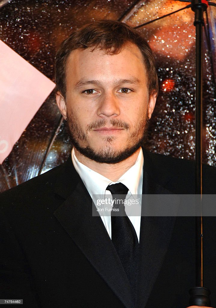 Heath Ledger at the Odeon Leicester Square in London, United Kingdom.