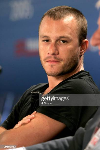 Heath Ledger during 2005 Venice Film Festival 'Brokeback Mountain' Press Conference at Casino Palace in Venice Lido Italy