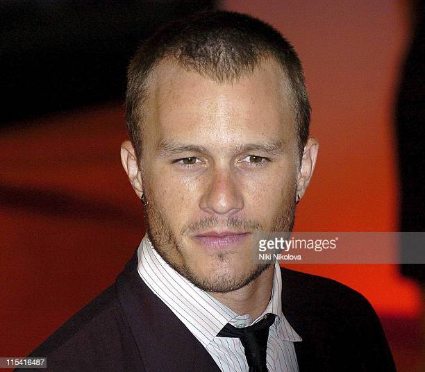 Heath Ledger during 2005 Venice Film Festival 'Brokeback Mountain' Arrivals at Sala Grande in Venice Italy