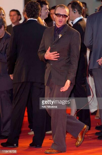 Heath Ledger during 2005 Venice Film Festival 'Casanova' Premiere Arrivals at Sala Grande in Venice Italy