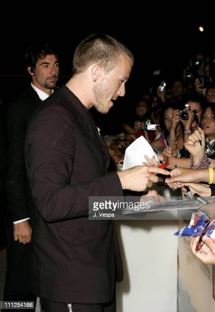Heath Ledger during 2005 Venice Film Festival 'The Brothers Grimm' Premiere at Palazzo del Cinema in Venice Lido Italy