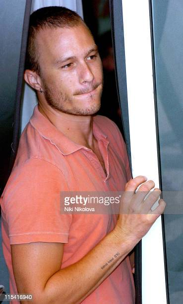 Heath Ledger during 2005 Venice Film Festival 'The Brothers Grimm' Photocall at Casino Palace in Venice Italy