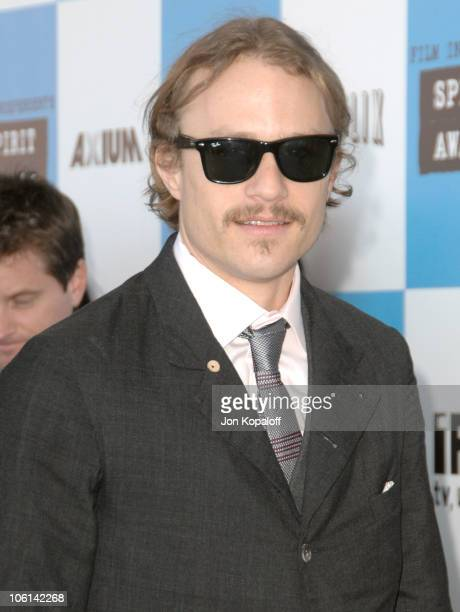 Heath Ledger during 2007 Film Independent's Spirit Awards Arrivals at Santa Monica Pier in Santa Monica California United States