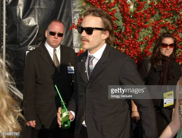 Heath Ledger during 2007 Film Independent's Spirit Awards Perrier at Santa Monica Pier in Santa Monica California United States