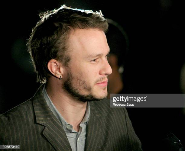 Heath Ledger during 21st Annual Santa Barbara International Film Festival The Breakthrough Performance of the Year Award Honoring Heath Ledger at...
