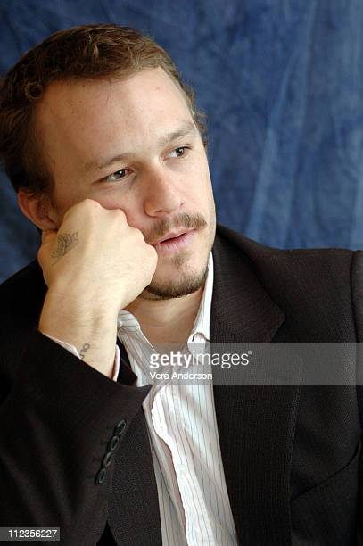 Heath Ledger during 'Casanova' Press Conference with Heath Ledger Sienna Miller Lasse Halstrom and Oliver Platt at Waldorf Astoria Hotel in New York...