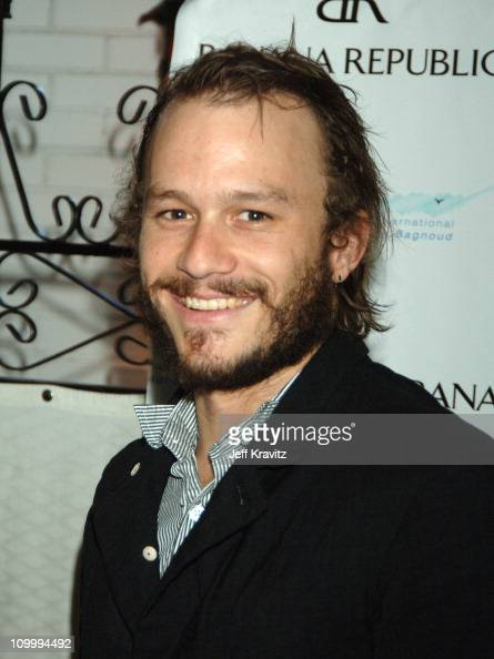 Heath Ledger during Ellen DeGeneres Portia de Rossi and Gina Philips Host a Charity Event to Help Launch a SelfSustaining FXB Village in Uganda at...